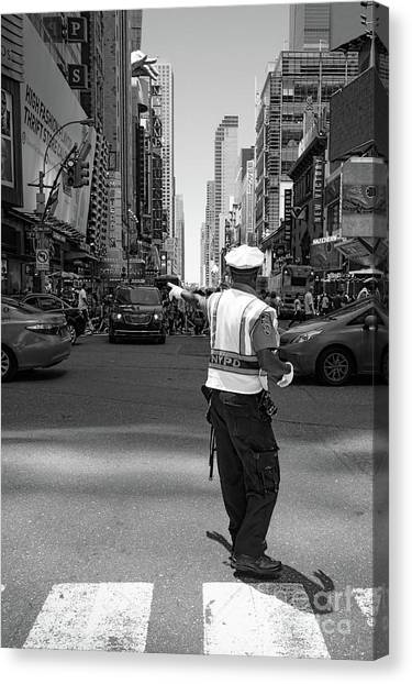Times Square, New York City  -27854-bw Canvas Print