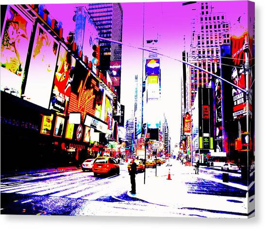 New York City Graffiti Canvas Print - Times Square Ny by Funkpix Photo  Hunter a4f720f7ea75