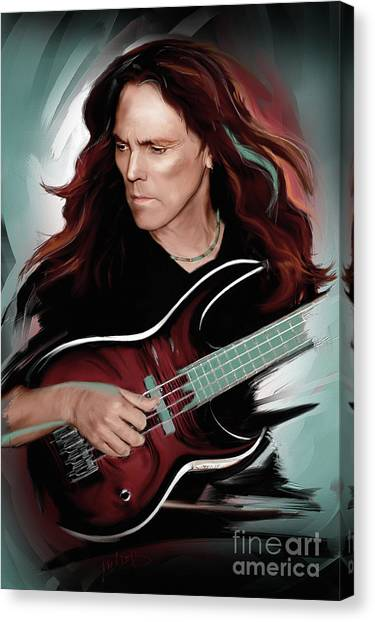 Bass Guitars Canvas Print - Timothy B. Schmit by Melanie D