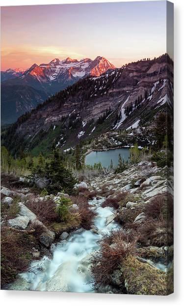 Timp From Silver Lake. Canvas Print