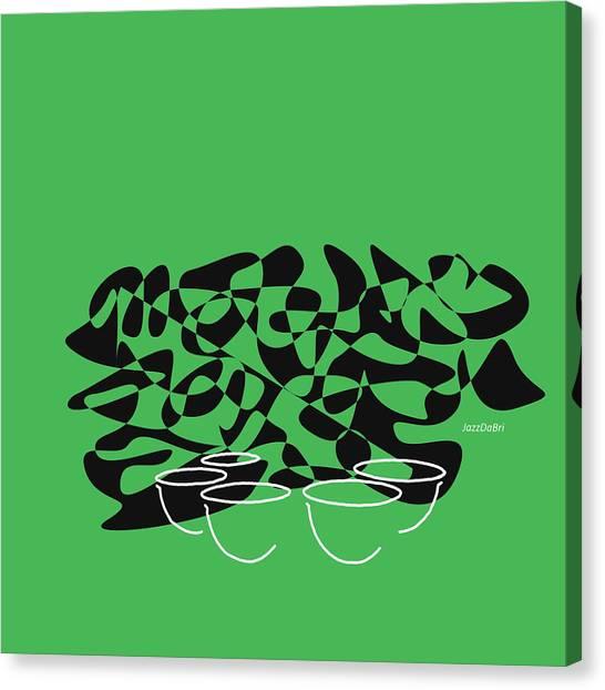 Timpani In Green Canvas Print