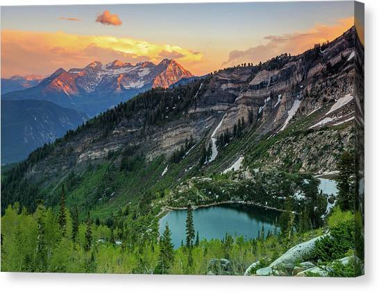 Timpanogos And Silver Lake. Canvas Print