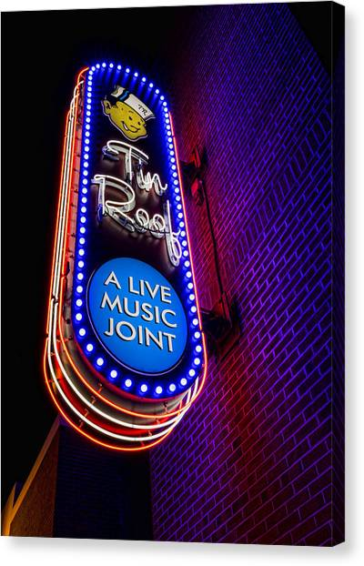 Burger Canvas Print - Tin Roof Beale Street by Stephen Stookey