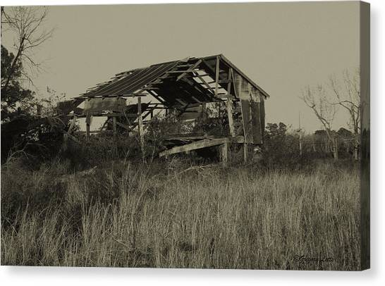 Tin Shack Canvas Print by Gregory Letts