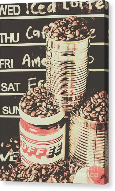 Coffee Shops Canvas Print - Tin Signs And Coffee Shops by Jorgo Photography - Wall Art Gallery