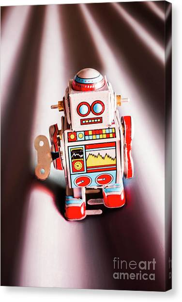 Metallic Canvas Print - Tin Toys From 1980 by Jorgo Photography - Wall Art Gallery