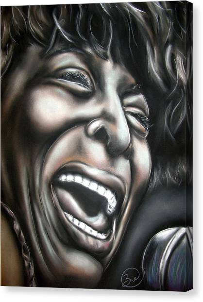 Tina Turner Canvas Print by Zach Zwagil