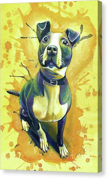 French Bull Dogs Canvas Print - Tink by Michael Volpicelli
