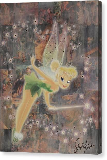 Tinkerbell Canvas Print by Stapler-Kozek
