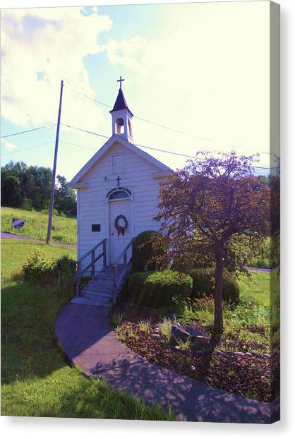 Tiny Church In The Valley Canvas Print