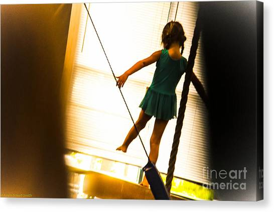 Balance Beam Canvas Print - Tiny Dancer by Kevin Eckert Smith