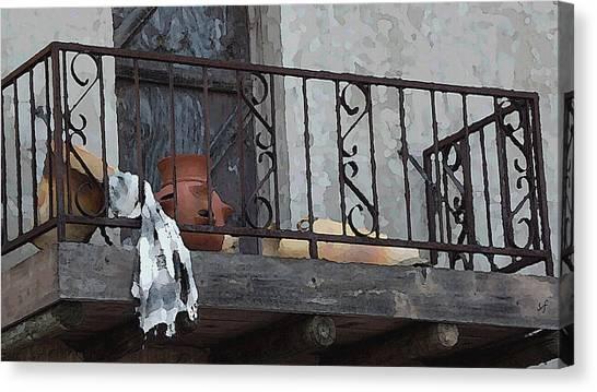 Tiny Southwest Balcony Canvas Print