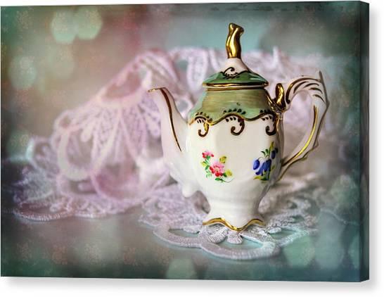 Tea Pot Canvas Print - Tiny Teapot  by Carol Japp