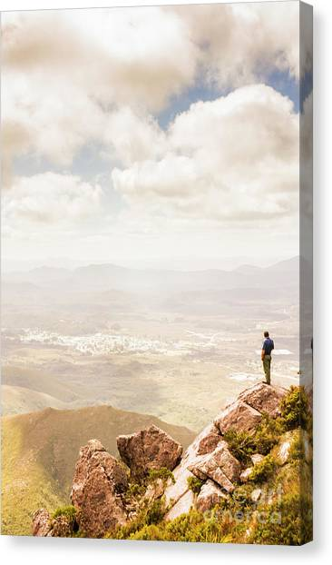 Young Adults Canvas Print - Tip Of Mt Zeehan Tasmania  by Jorgo Photography - Wall Art Gallery