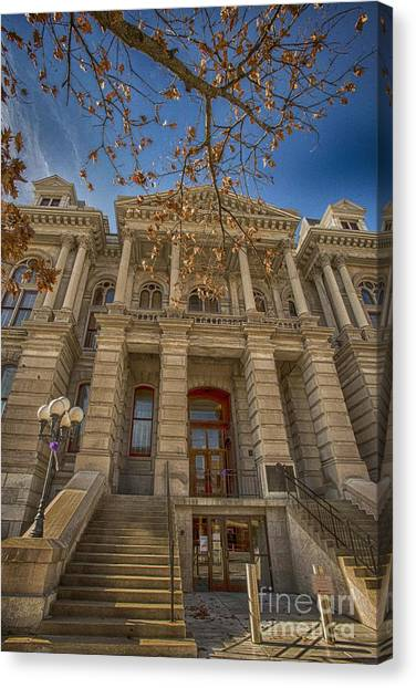 Purdue University Canvas Print - Tippacanoe County Courthouse by David Bearden