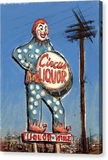Creepy Canvas Print - Tipsy The Clown by Russell Pierce