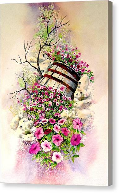 Tipsy Whiskey Barrel Canvas Print by Brooke Lyman