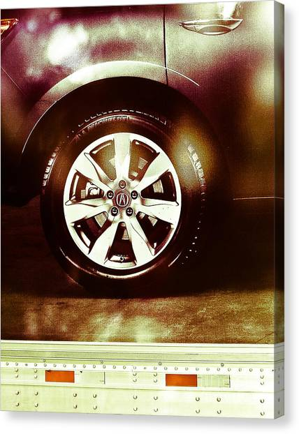 Tire Under The Moonlight Color Canvas Print