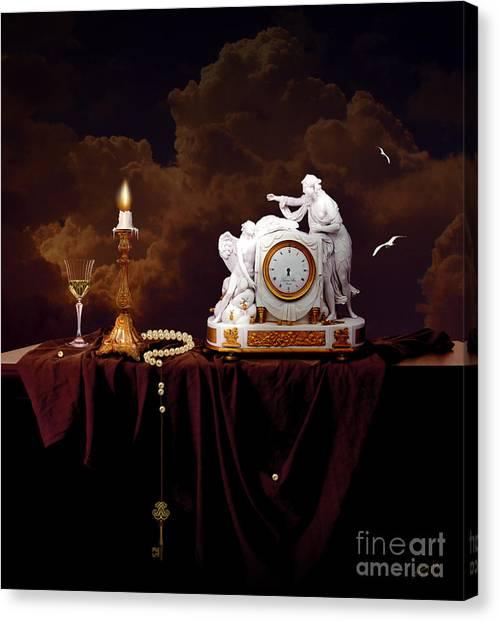 Canvas Print featuring the digital art Tired Angels by Alexa Szlavics