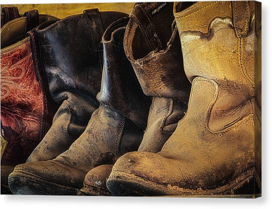 Tired Boots Canvas Print