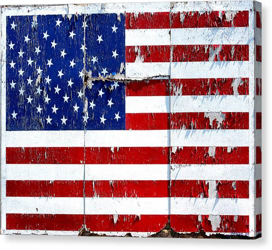 Tired Ole Flag Canvas Print