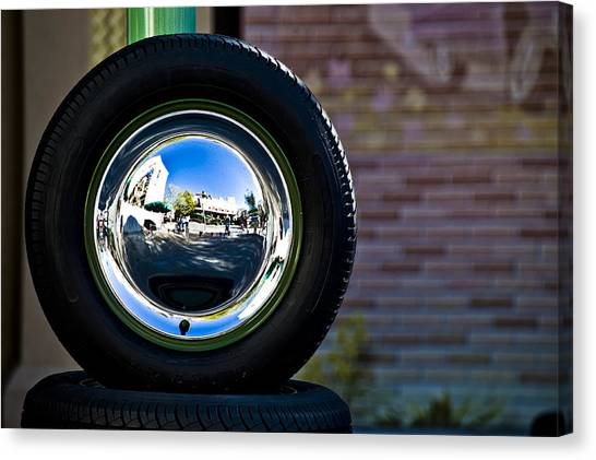 Tired Reflections Canvas Print by Sarita Rampersad