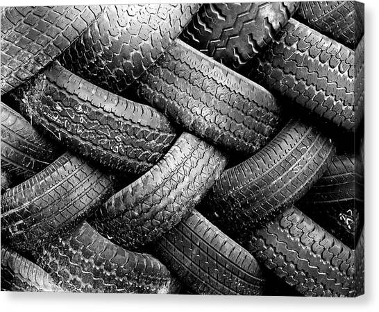 Junk Canvas Print - Tired Treads by Todd Klassy