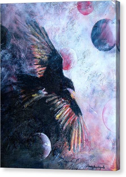 'tis The Wind Canvas Print by Sandy Applegate