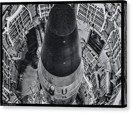 Missles Canvas Print - Titan II 2 by Tommy Anderson