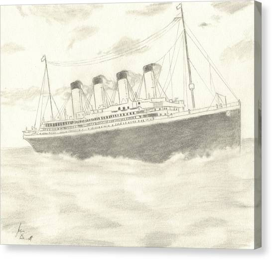 Titanic Canvas Print by Josh Bennett