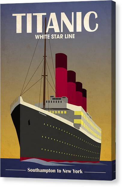 Boats Canvas Print - Titanic Ocean Liner by Michael Tompsett