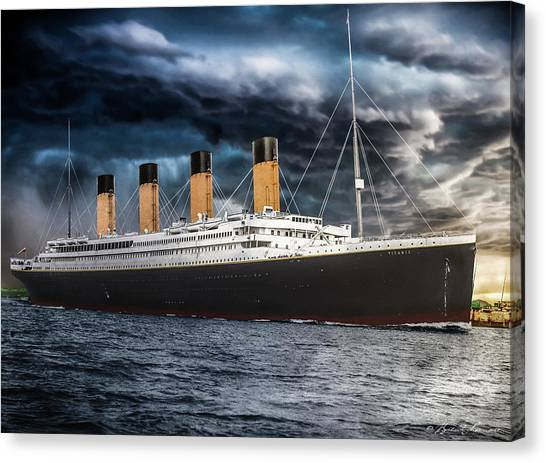 Titanic Photo Restoration Canvas Print by Brent Shavnore