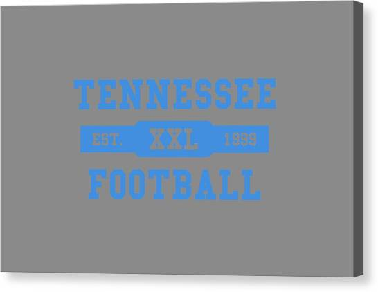 Tennessee Titans Canvas Print - Titans Retro Shirt by Joe Hamilton
