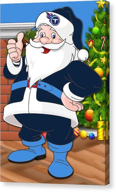 Tennessee Titans Canvas Print - Titans Santa Claus by Joe Hamilton
