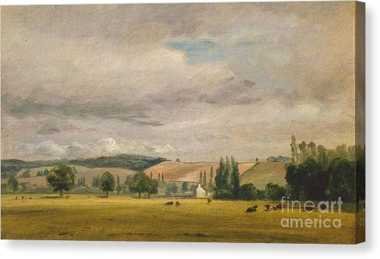 Dedham Canvas Print - Title Dedham Vale With The House Called by MotionAge Designs