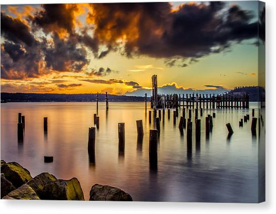 Titlow Beach Sunset Canvas Print
