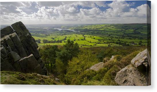 Peak District Canvas Print - Tittesworth From The Roaches by Chris Dale