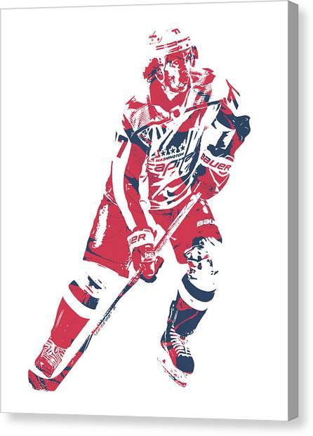 Washington Capitals Canvas Print - Tj Oshie Washington Capitals Pixel Art 11 by Joe Hamilton