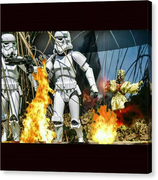 Stormtrooper Canvas Print - Tk-400 And Tk-404 Head To Investigate A by Russell Hurst
