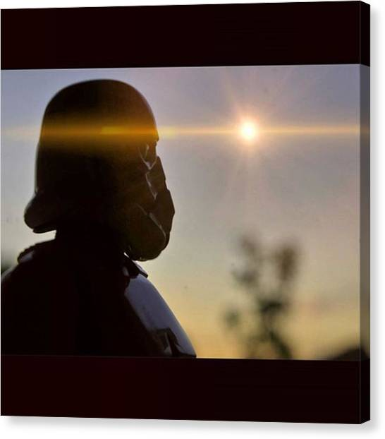 Stormtrooper Canvas Print - Tk-401 Looks To The Setting Sun And by Russell Hurst