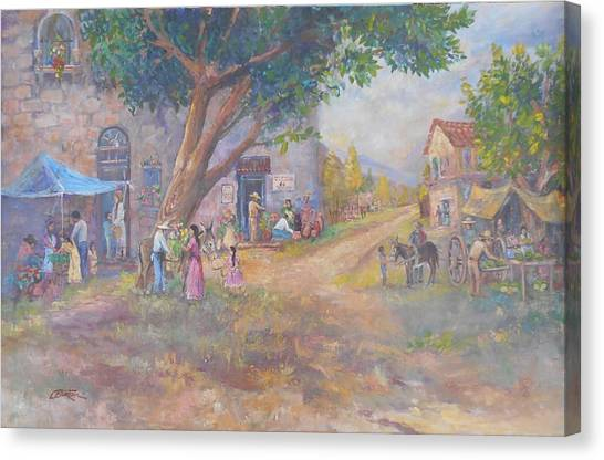 Lynn Burton Canvas Print - Tlaquepaque Village by Lynn Burton