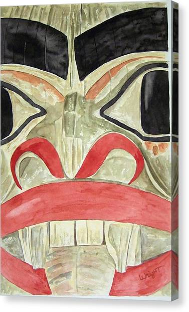 Tlingit Clan Beaver Canvas Print by Larry Wright