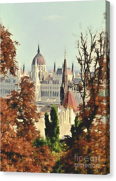To Budapest With Love Canvas Print
