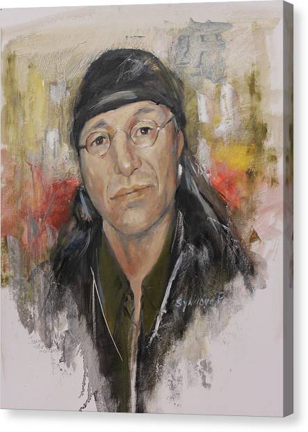 To Honor John Trudell Canvas Print
