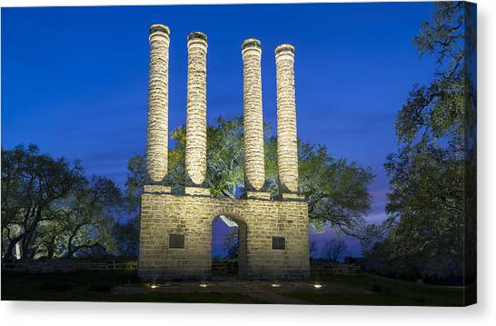 Baylor University Canvas Print - To Light The Ways Of Time by Stephen Stookey