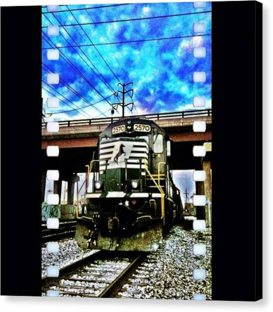 Freight Trains Canvas Print - To Ride A Black Steel Horse by Nick Heap