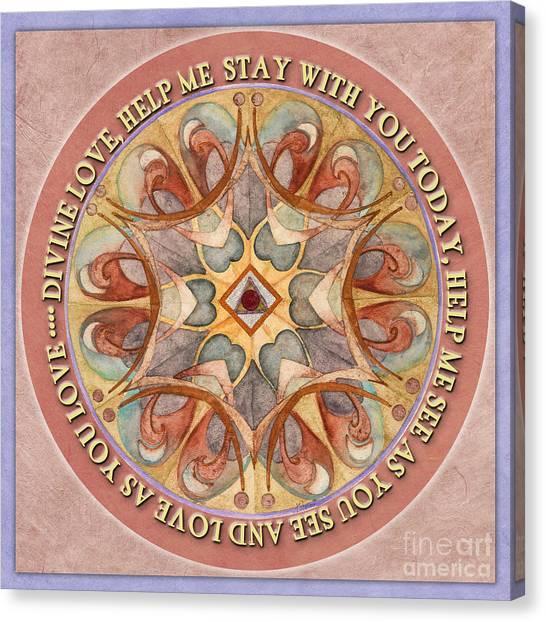 To See As Love Sees Mandala Prayer Canvas Print