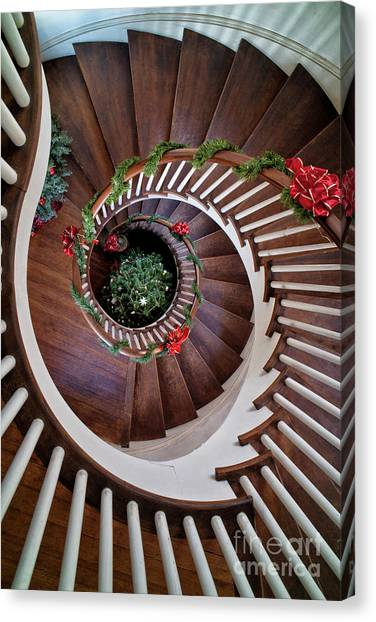 To The Bottom Of The Staircase Canvas Print
