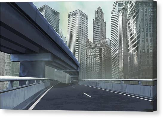 To The City Canvas Print