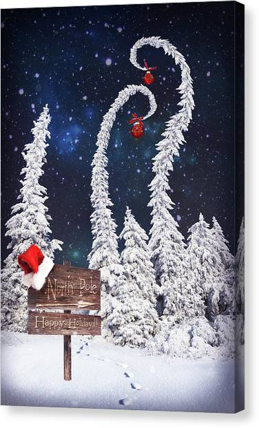To The North Pole Canvas Print